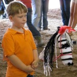 """Max the Zebra"" Stick Horse class, Youth Nationals"